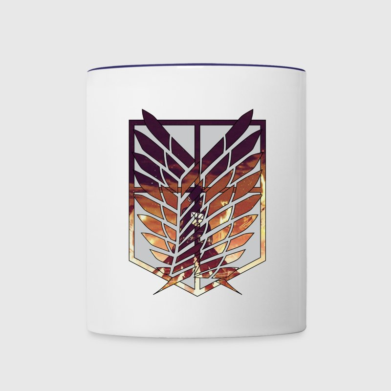 Wings of freedom Bottles & Mugs - Contrast Coffee Mug