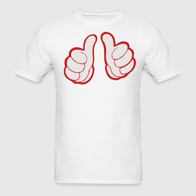 THUMBS POINTING BACK AT ME T-Shirts - Men's T-Shirt