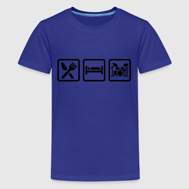 Eat Sleep Drums Kids' Shirts - Kids' Premium T-Shirt