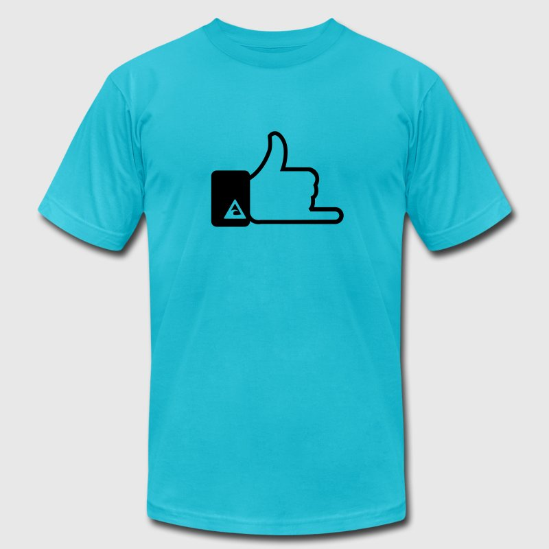 Surfer hand sign T-Shirts - Men's T-Shirt by American Apparel