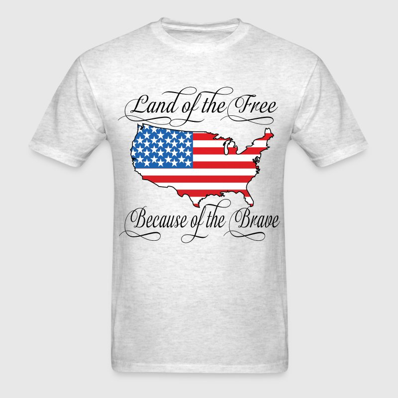 Land of the Free USA Flag T-Shirts - Men's T-Shirt