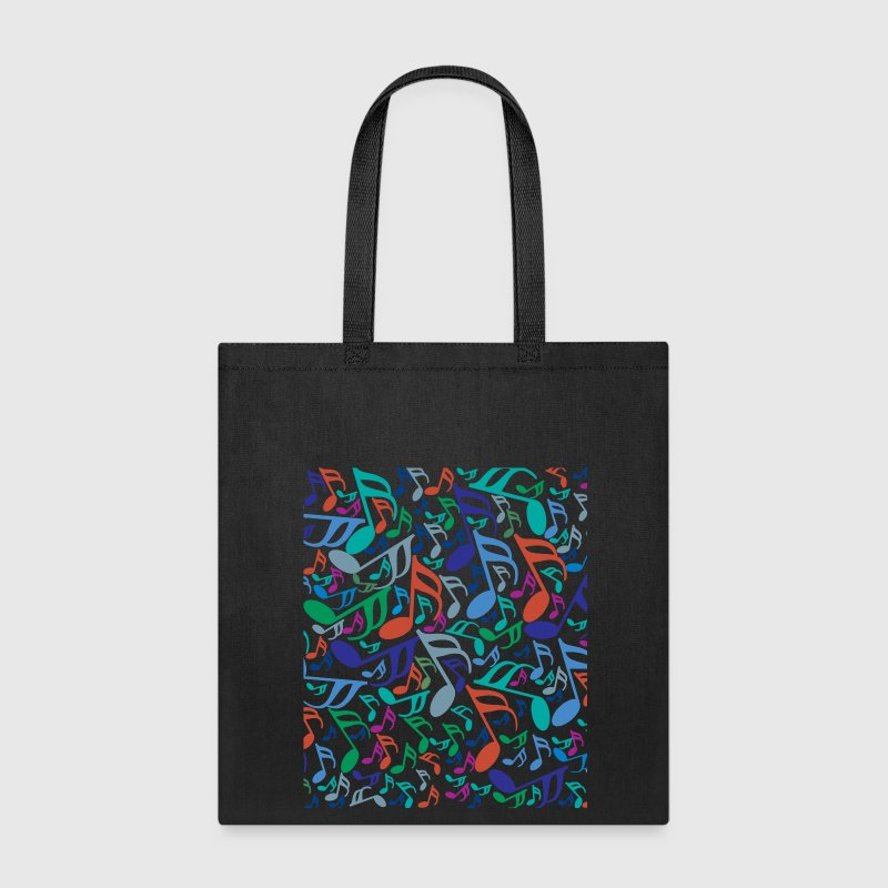10x12 Colorful Music Notes Bags & backpacks - Tote Bag