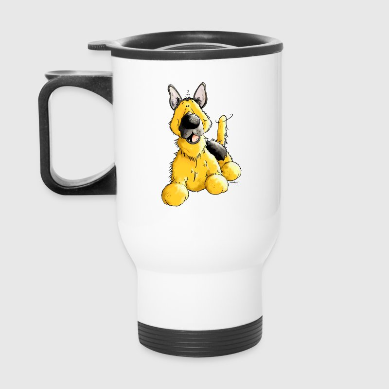 Happy German Shepherd Dog - Dogs Bottles & Mugs - Travel Mug