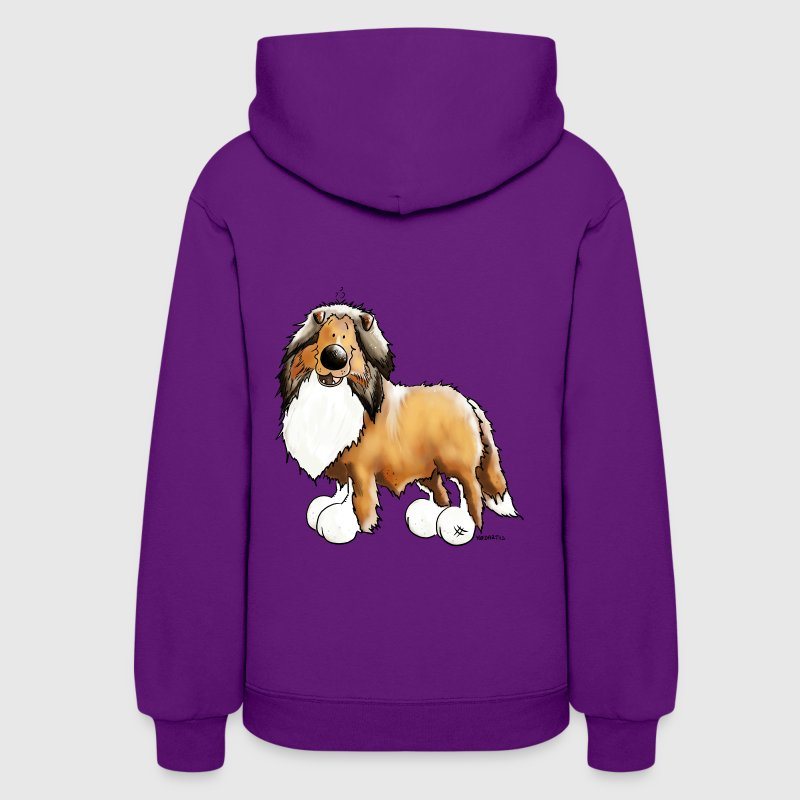 Knuffiger Collie - Rough Collie Hoodies - Women's Hoodie