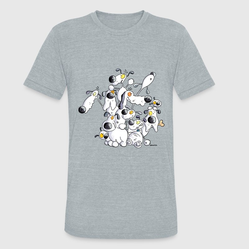 Lots Of Dogs - Dog  T-Shirts - Unisex Tri-Blend T-Shirt by American Apparel