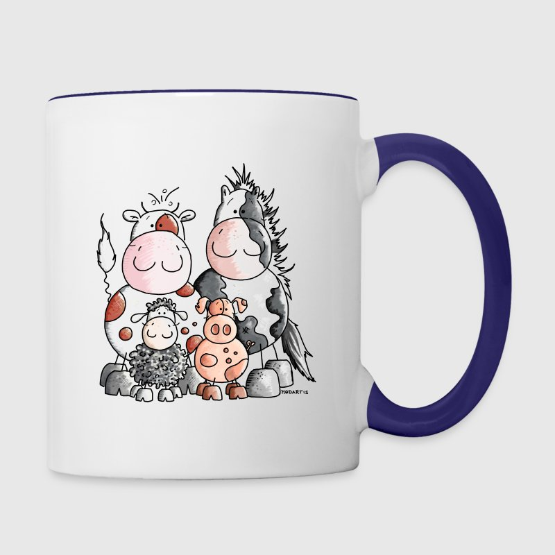 Funny Farm Animals Bottles & Mugs - Contrast Coffee Mug