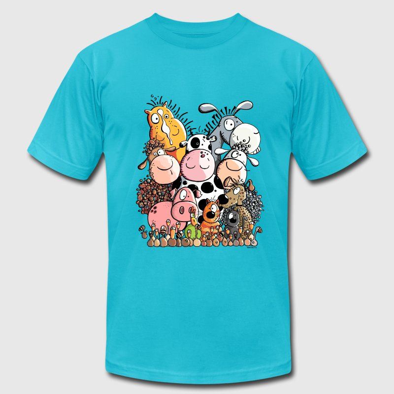 Funny Farm Animals T-Shirts - Men's T-Shirt by American Apparel