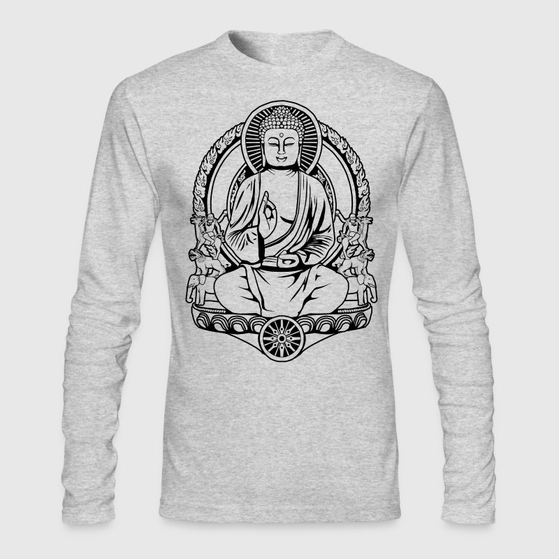 Gautama Buddha Lines Long Sleeve Shirts - Men's Long Sleeve T-Shirt by Next Level