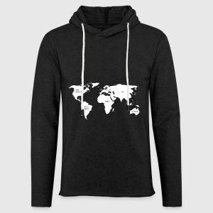 World map hoodie spreadshirt unisex lightweight terry hoodie gumiabroncs Choice Image