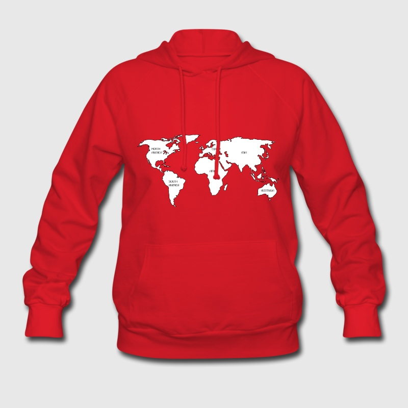 World map Hoodies - Women's Hoodie