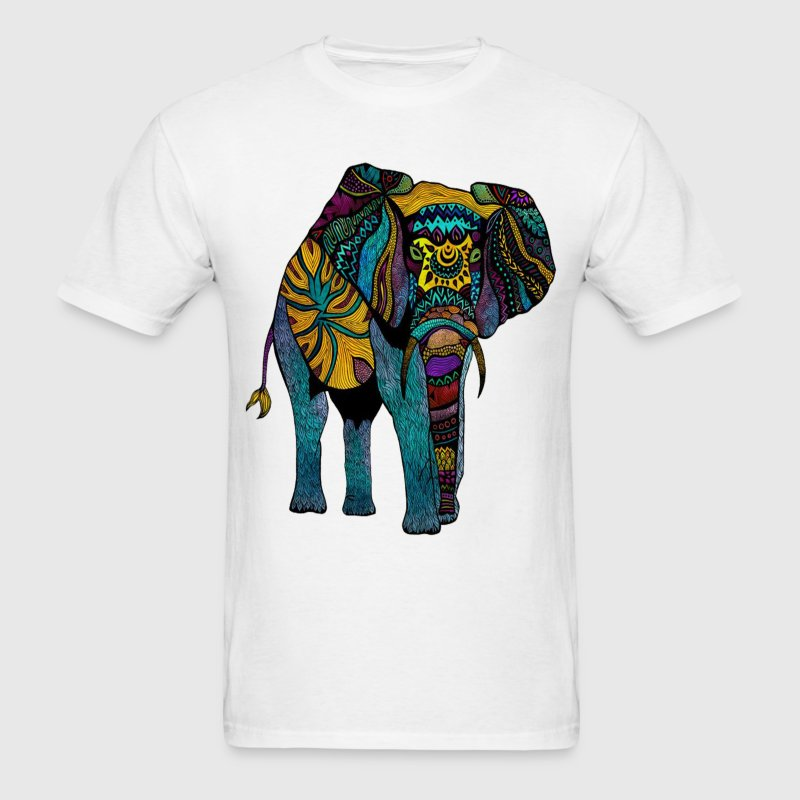 Colorful Elephant T-Shirts - Men's T-Shirt