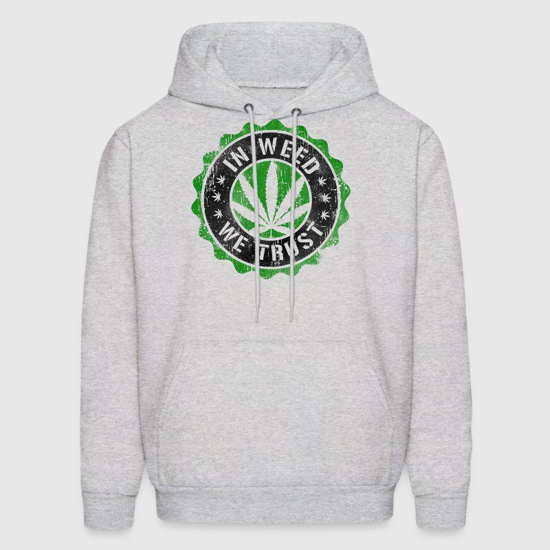 In Weed We Trust stamp Hoodies - Men's Hoodie