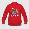 Funny French Bulldog Cartoon Hoodies - Women's Hoodie