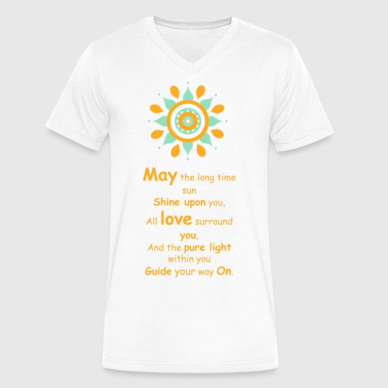 May The Long Time Sun T-Shirts - Men's V-Neck T-Shirt by Canvas