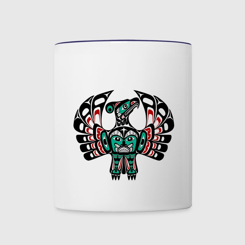 Northwest Pacific coast Haida art Thunderbird Bottles & Mugs - Contrast Coffee Mug