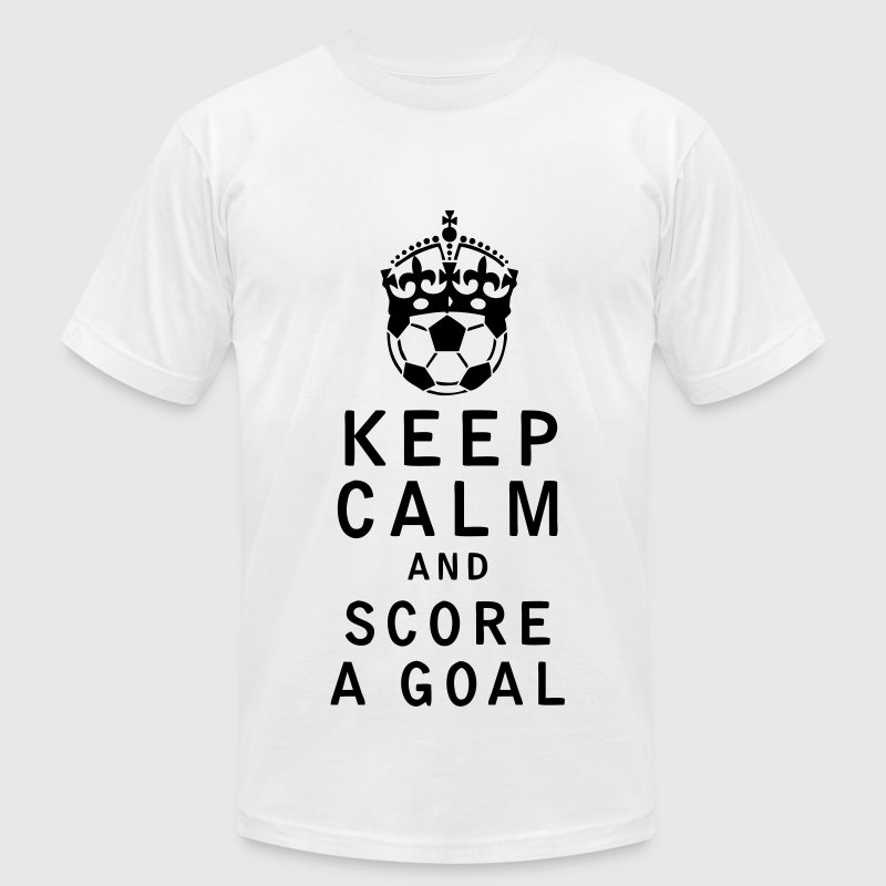 Keep Calm and Score a Goal - Men's Fine Jersey T-Shirt