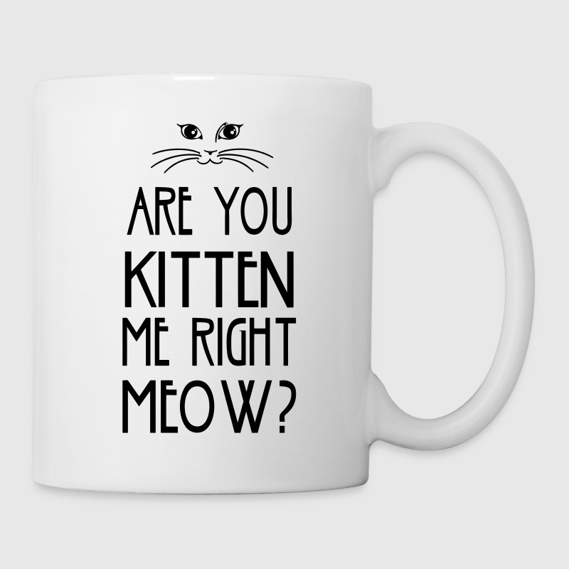 Are You Kitten Me Right Meow Bottles & Mugs - Coffee/Tea Mug