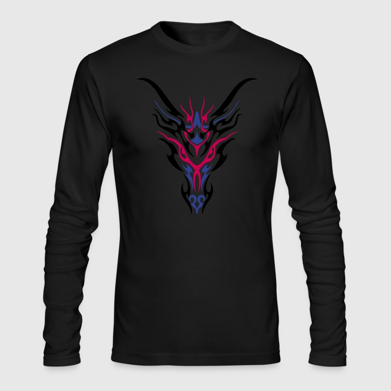 Tribal Dragon - Men's Long Sleeve T-Shirt by Next Level