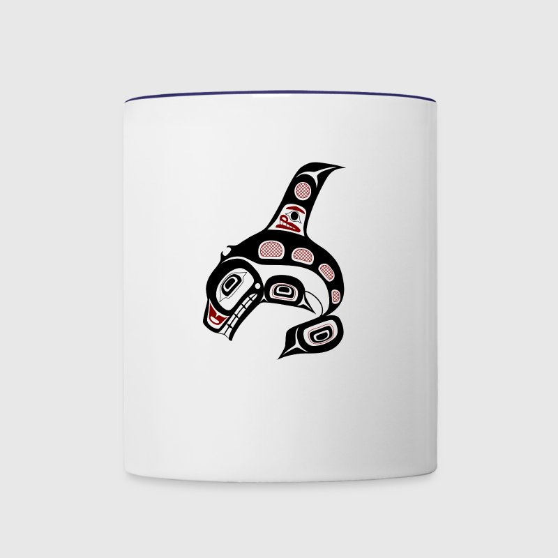 Northwest Pacific coast Haida art Killer whale Bottles & Mugs - Contrast Coffee Mug