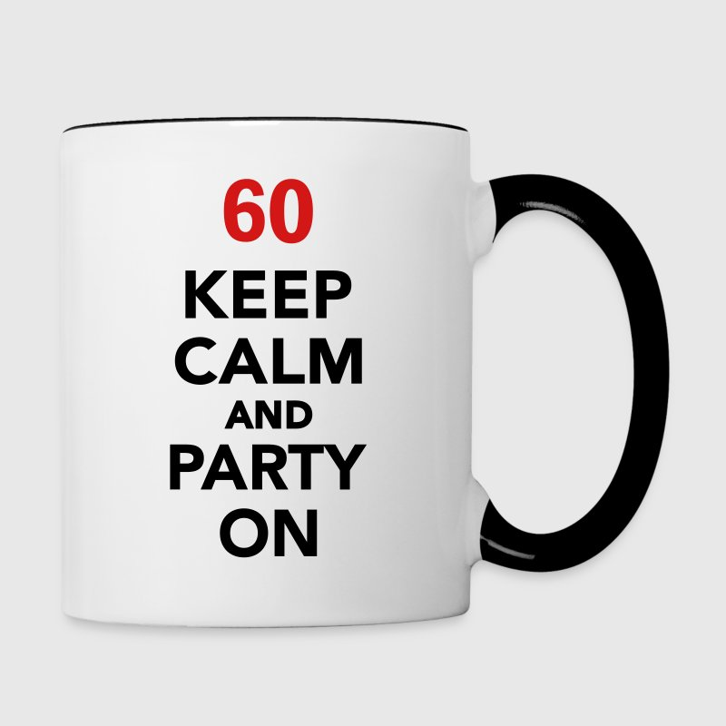 Keep calm 60 birthday Bottles & Mugs - Contrast Coffee Mug