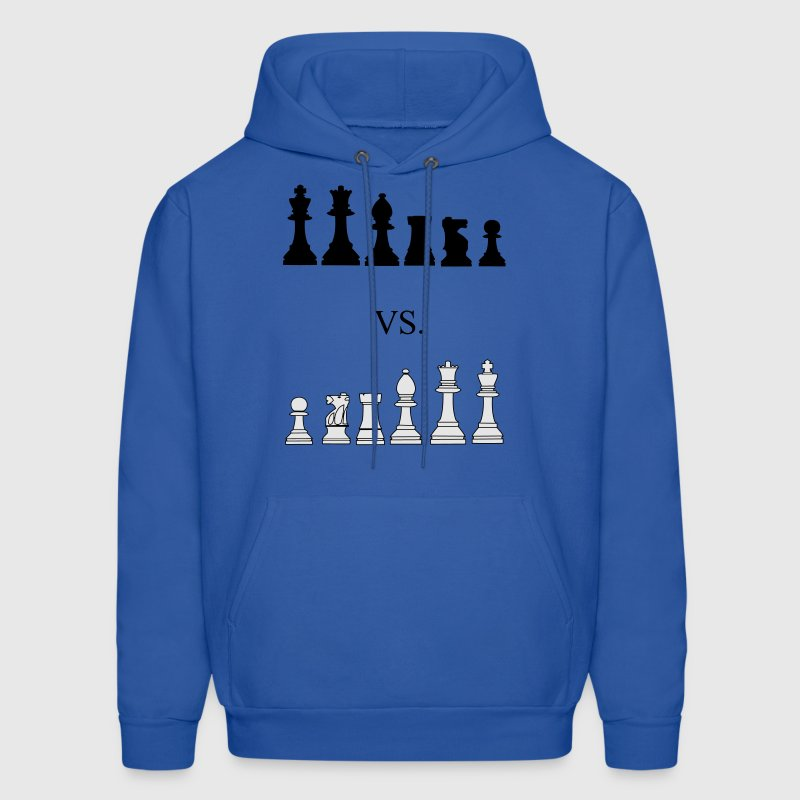 Black vs. White, chess, pawns, chessmen Hoodies - Men's Hoodie