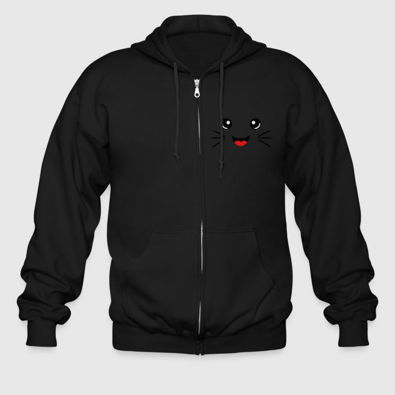 Neko Face Zip Hoodies & Jackets - Men's Zip Hoodie