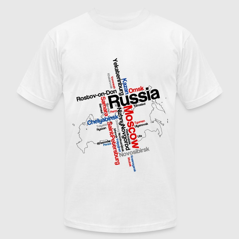 RUSSIA T-Shirts - Men's T-Shirt by American Apparel