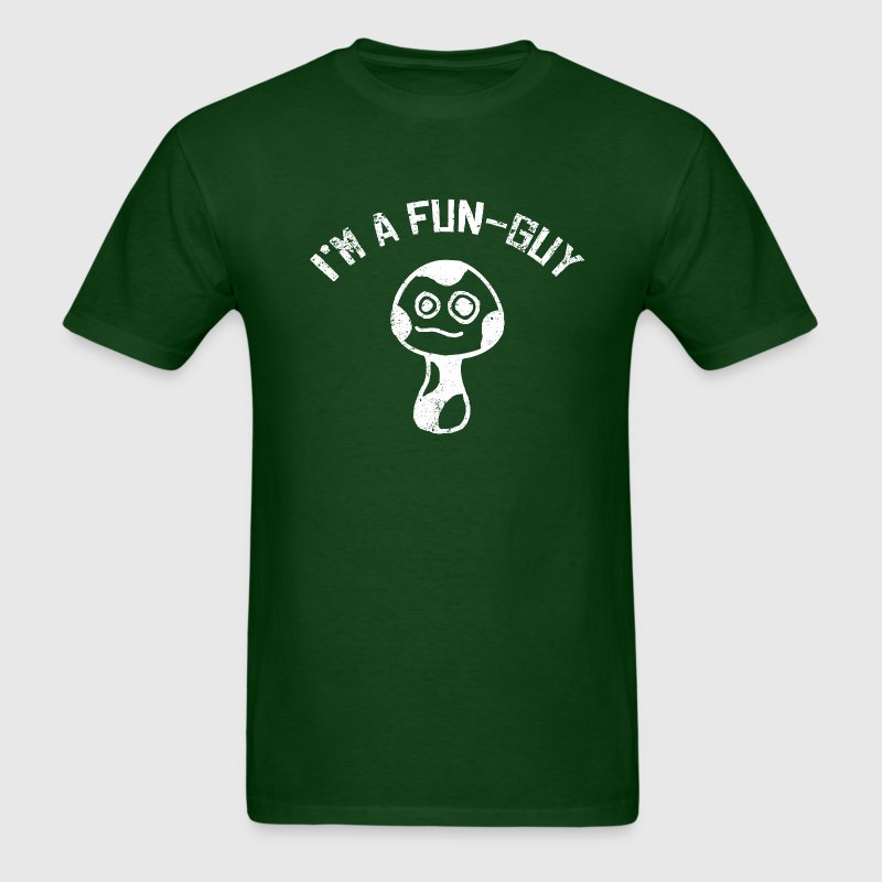 I'm a Fun-Guy Fungi Mushrooms Distressed White T-Shirts - Men's T-Shirt