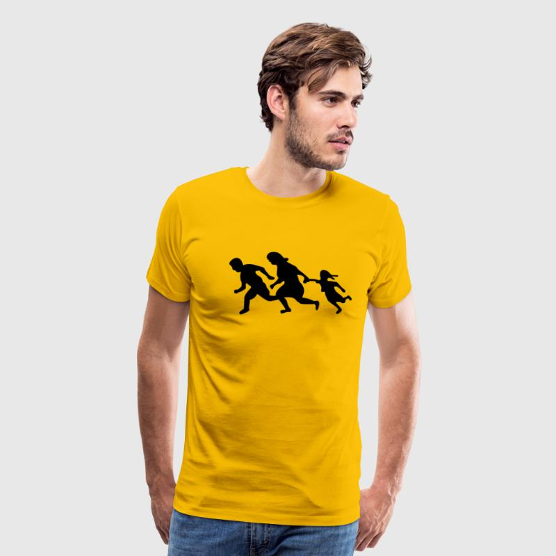 Running Family / Running Immigrants Sign T-Shirts - Men's Premium T-Shirt