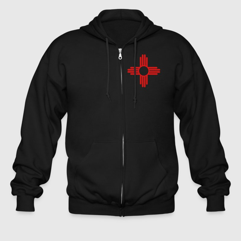 Native American Sun Symbol Zip Hoodies & Jackets - Men's Zip Hoodie