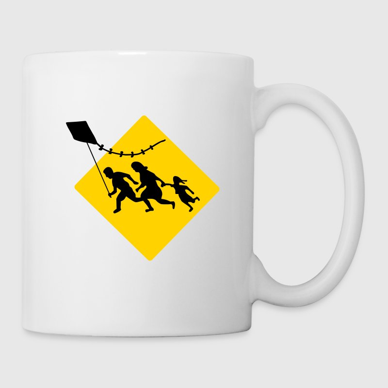 Running Family Flying a Kite Bottles & Mugs - Coffee/Tea Mug