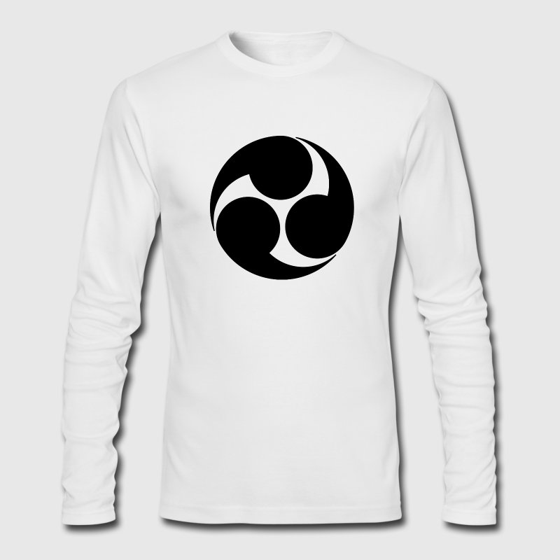 Kobayakawa Mon Japanese clan Long Sleeve Shirts - Men's Long Sleeve T-Shirt by Next Level