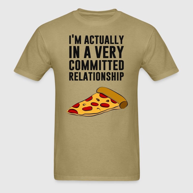 Pepperoni Pizza Love - A Serious Relationship T-Shirts - Men's T-Shirt