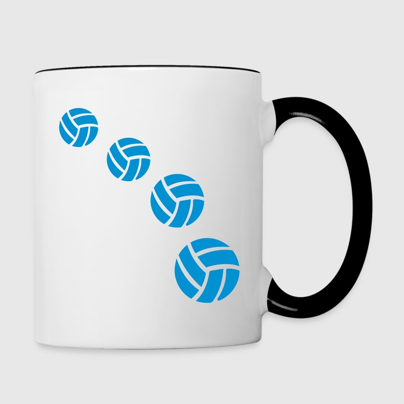 Volleyball Bottles & Mugs - Contrast Coffee Mug