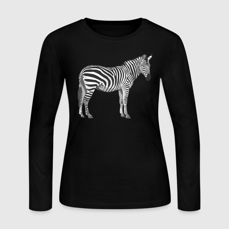 zebra Long Sleeve Shirts - Women's Long Sleeve Jersey T-Shirt