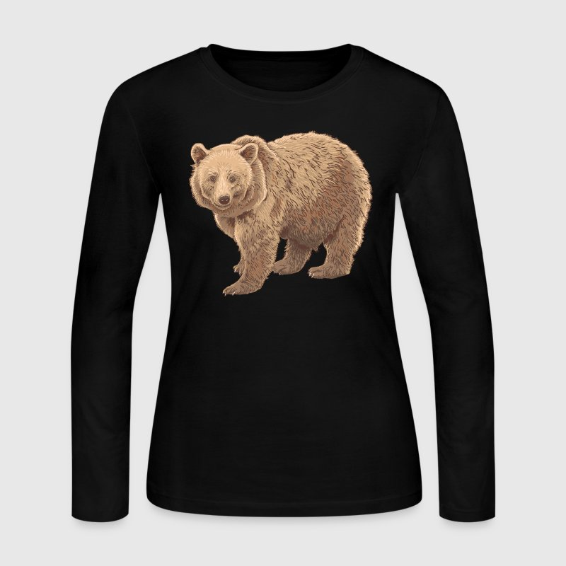 kodiak bear Long Sleeve Shirts - Women's Long Sleeve Jersey T-Shirt