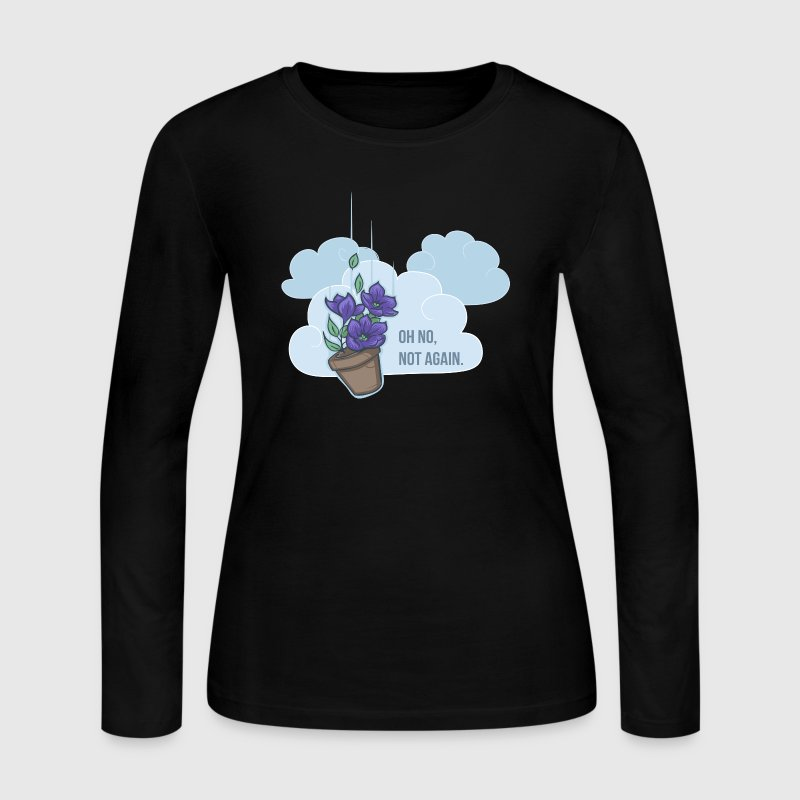 Thoughts of a falling bowl of petunias Long Sleeve Shirts - Women's Long Sleeve Jersey T-Shirt