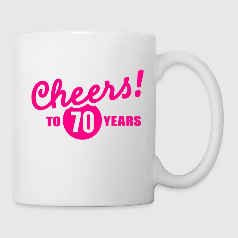 Cheers 70 birthday Bottles & Mugs - Coffee/Tea Mug
