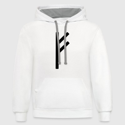 Fé Runic Wealth T-Shirts - Contrast Hoodie