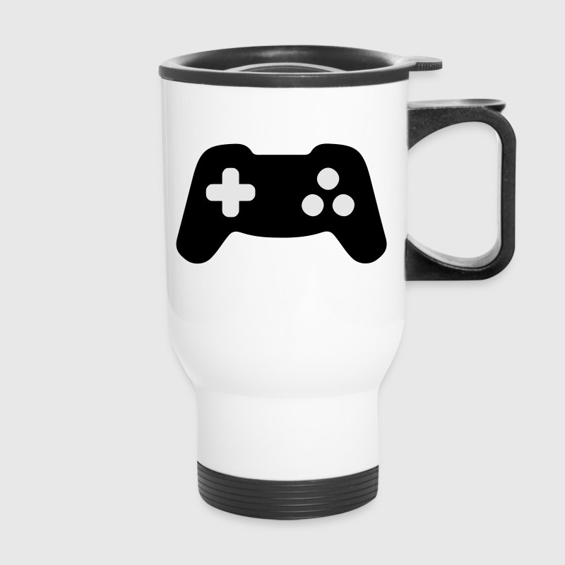 Gamepad, Gamer, Controller Bottles & Mugs - Travel Mug