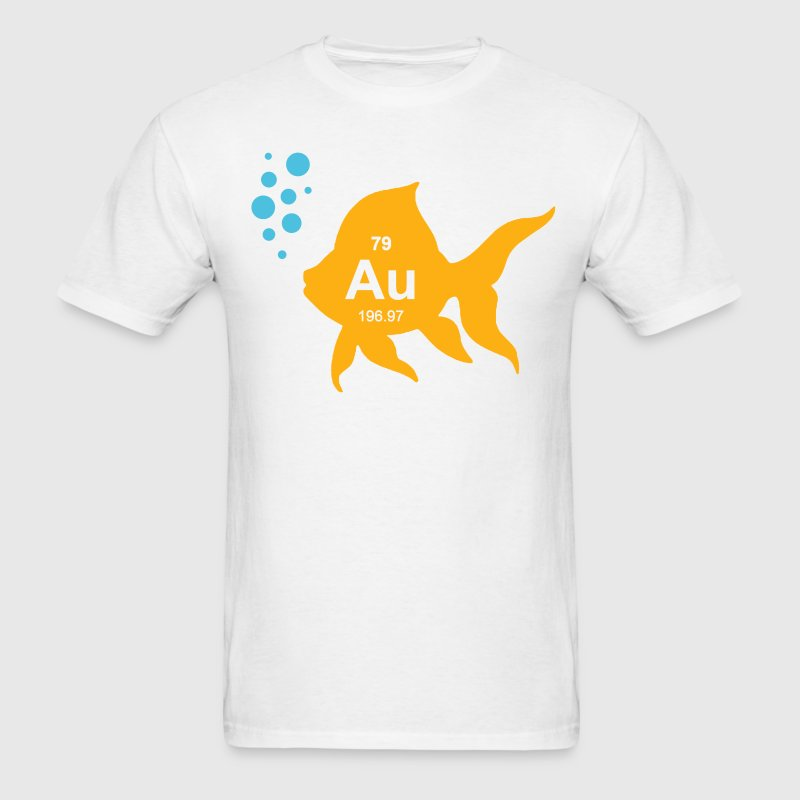 Periodic table elemental gold fish t shirt spreadshirt urtaz Images