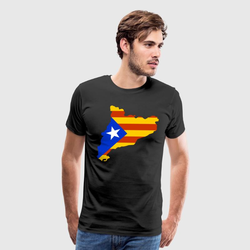 Catalonia map with flag Shirt - Men's Premium T-Shirt