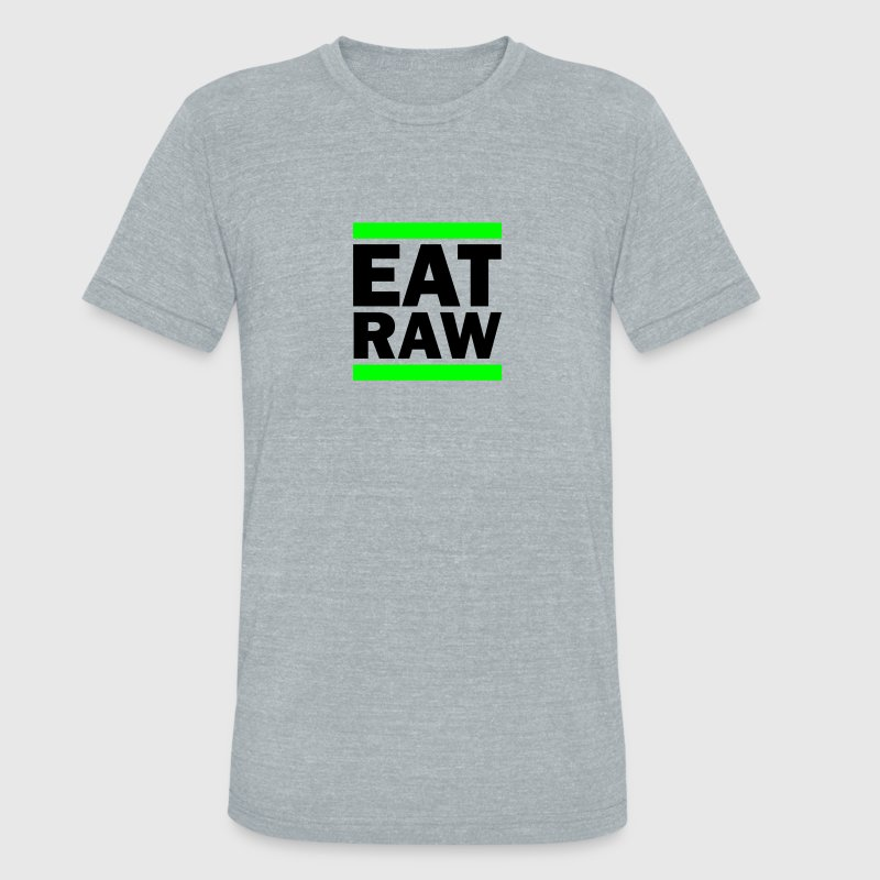 Eat Raw T-Shirts - Unisex Tri-Blend T-Shirt by American Apparel