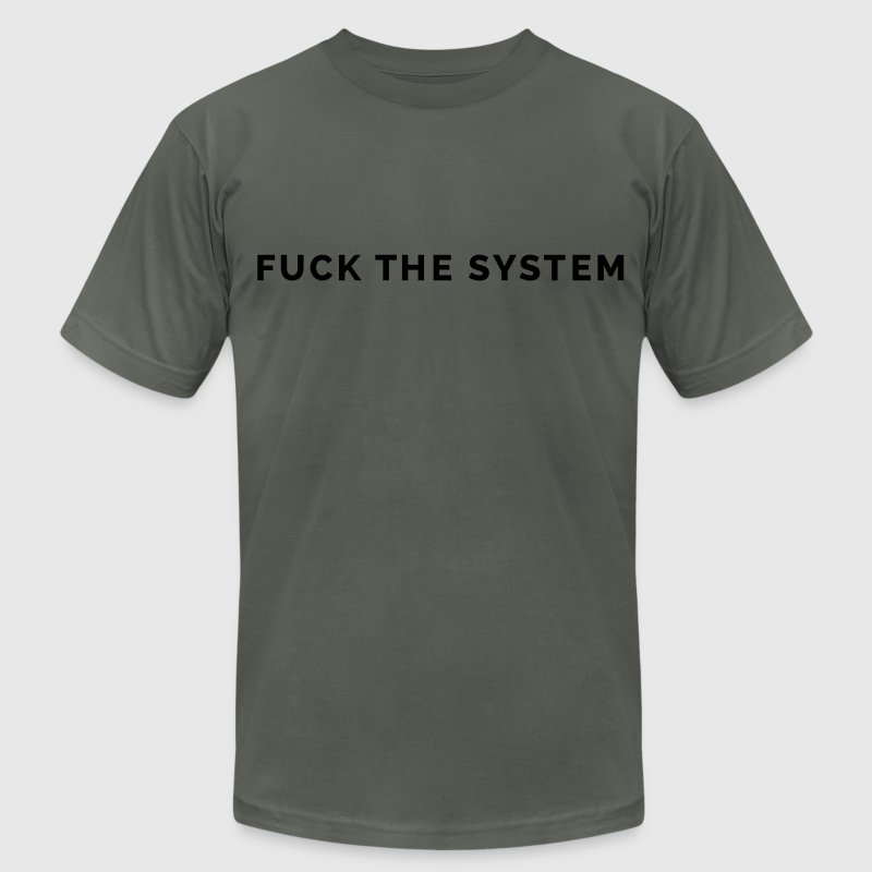 Fuck the System T-Shirts - Men's Fine Jersey T-Shirt