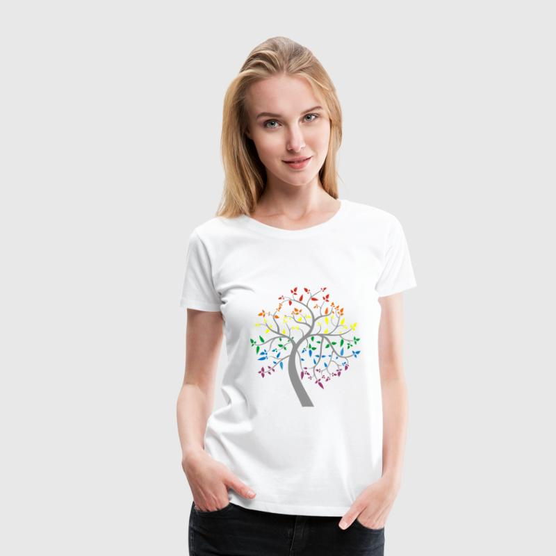 Tree of Pride Women's T-Shirts - Women's Premium T-Shirt