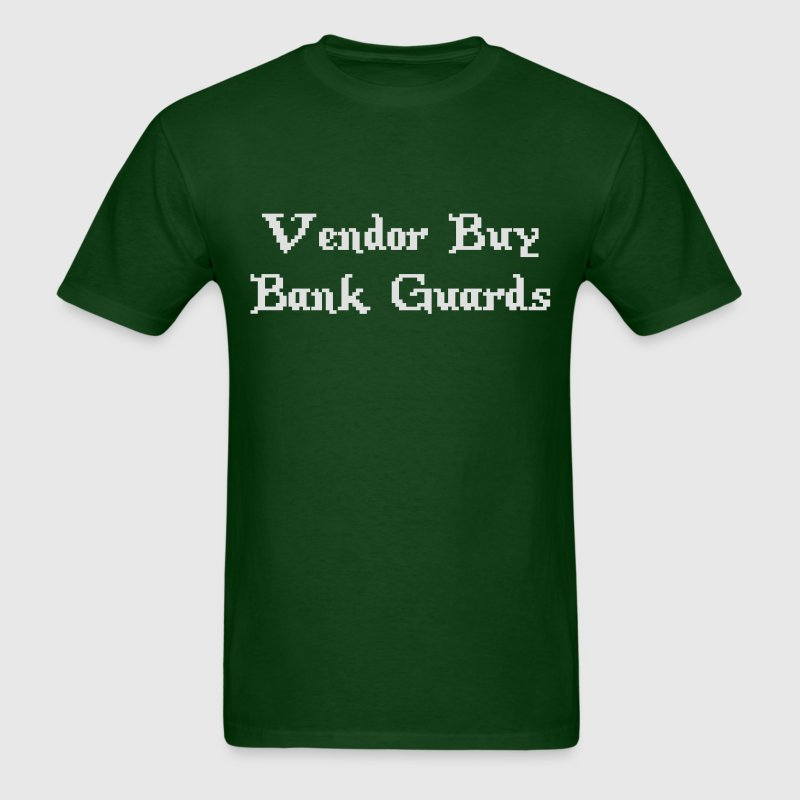 Vintage Online Gaming Vendor Buy Bank Guards T-Shirts - Men's T-Shirt