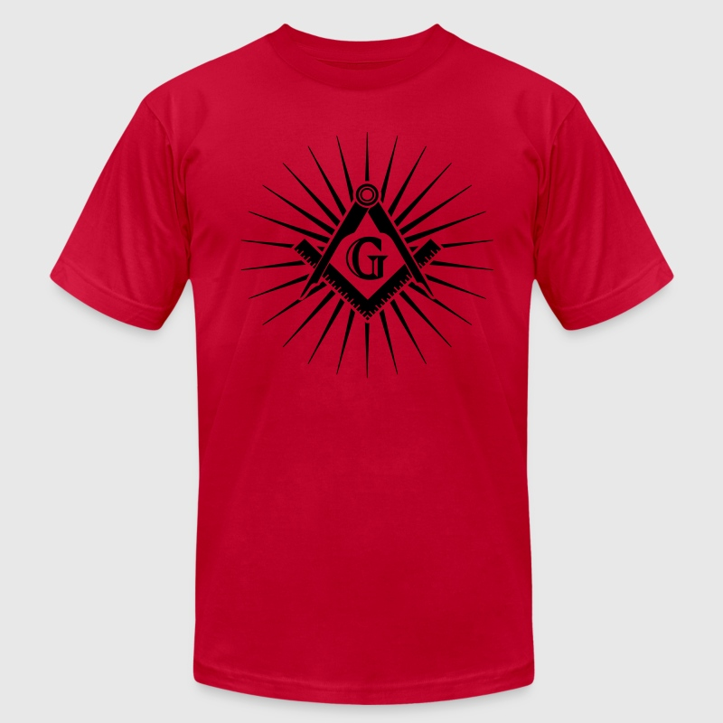 Freemasonry, Square Compass, Great Architect, God T-Shirts - Men's T-Shirt by American Apparel