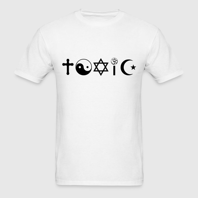 Religion Is Toxic Freethinker T-Shirts - Men's T-Shirt