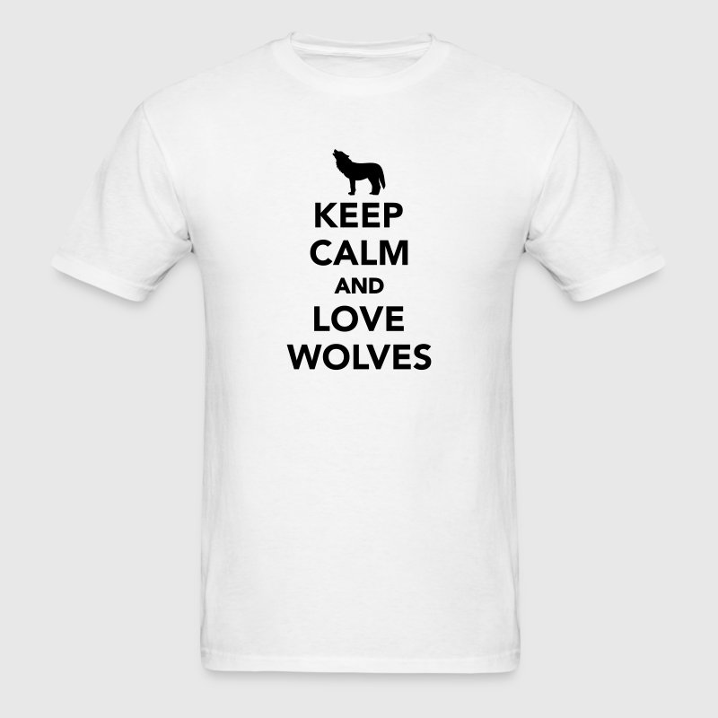 Keep calm and love wolves T-Shirts - Men's T-Shirt