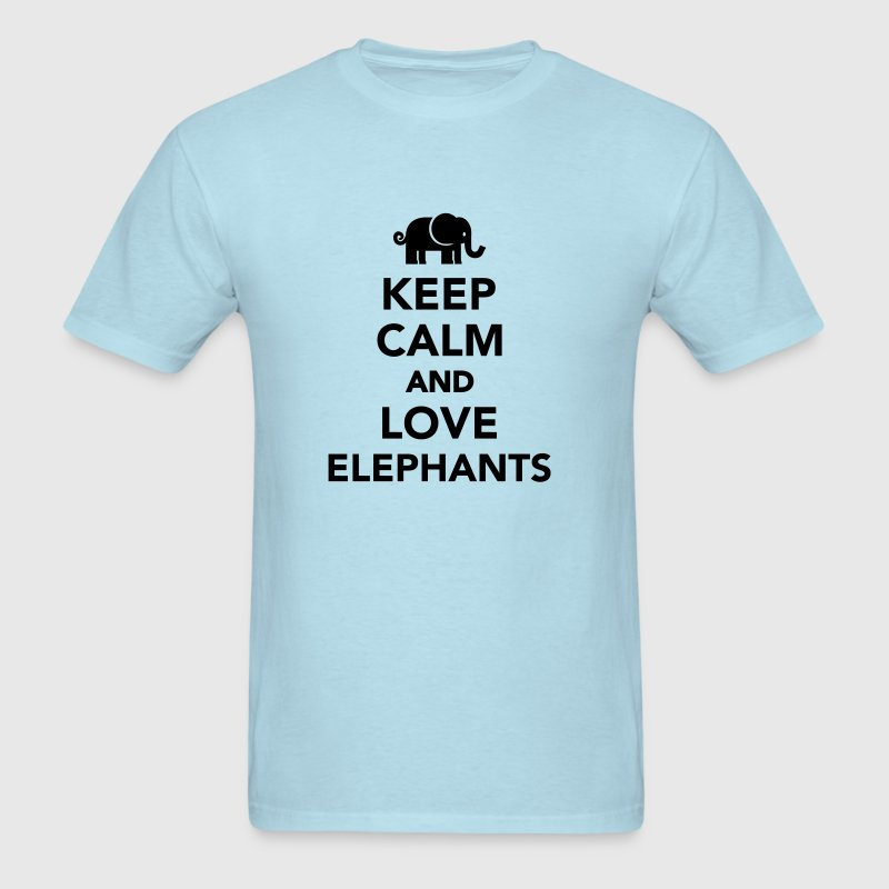 Keep calm and love Elephants T-Shirts - Men's T-Shirt